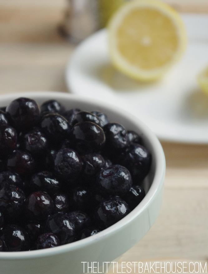 Blueberry & lemon clafoutis | The Littlest Bakehouse