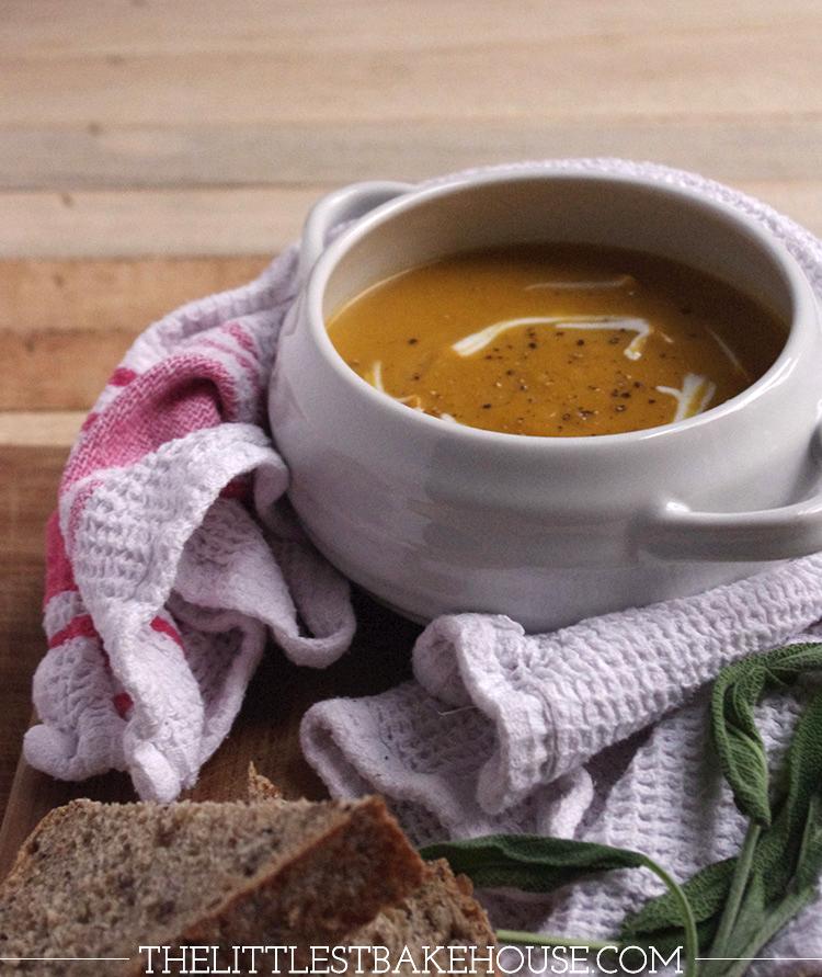 Squash, Stilton & sage soup | The Littlest Bakehouse