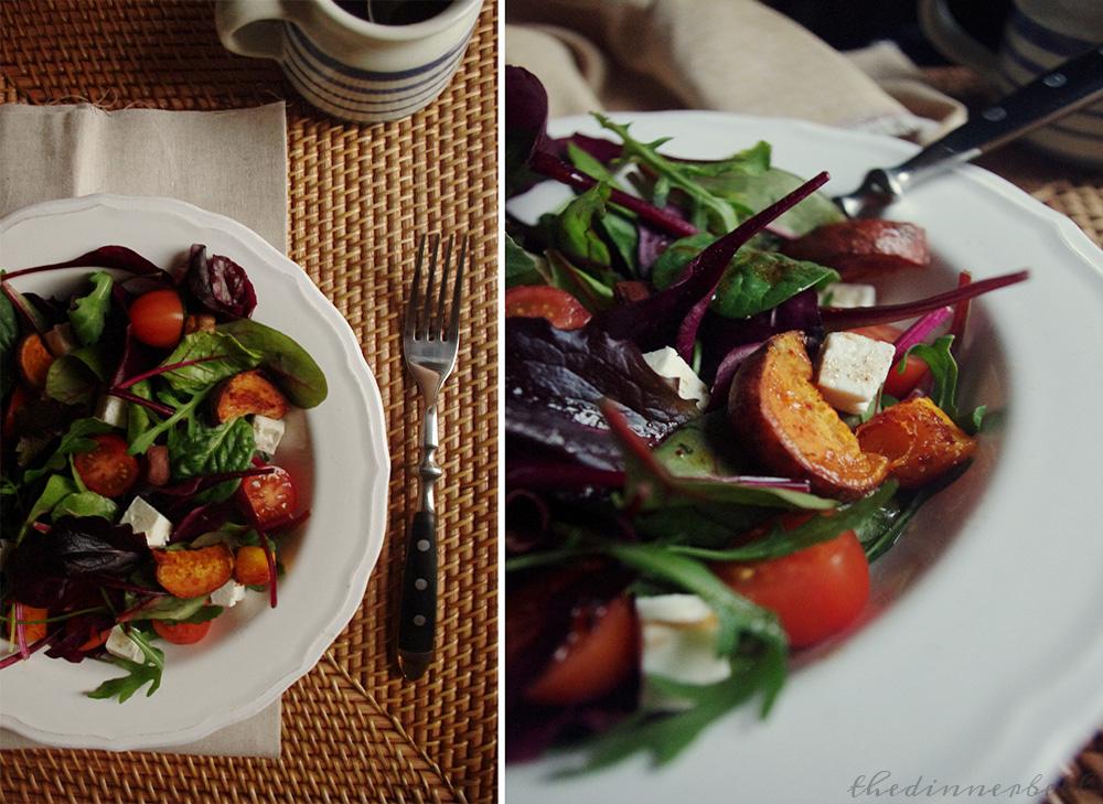 Sweet potato & feta salad with honey & cinnamon dressing // The Dinner Bell