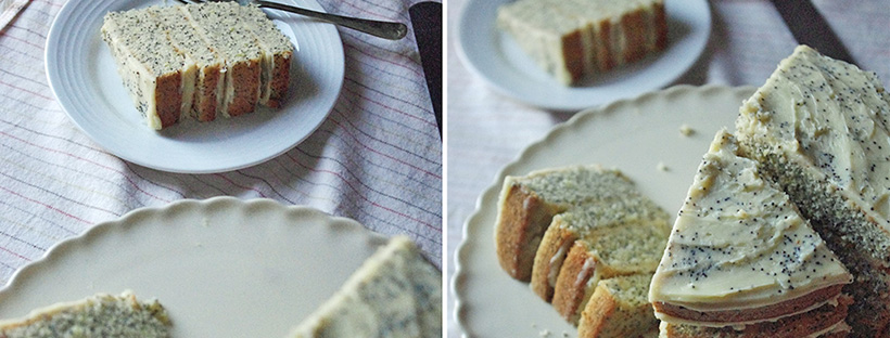 Lemon and poppy seed cake with mascarpone frosting - The ...